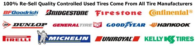 100% Re-Sell Quality Controlled Used Tires