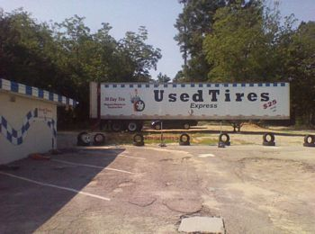 Used Tire Trailer Sinage